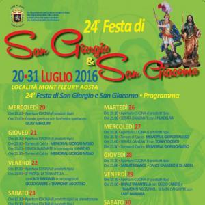 Festa di San Giorgio e San Giacomo, dal 20 al 31 Luglio